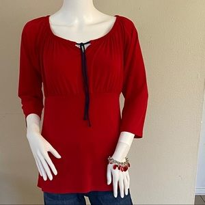 Tops - 2/$20 Red tie top blouse size small